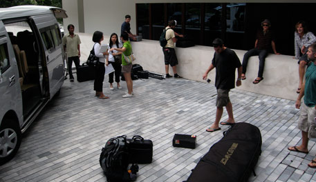 The crew in Thailand, working with local crew can be advantageous, but storytellers travel.