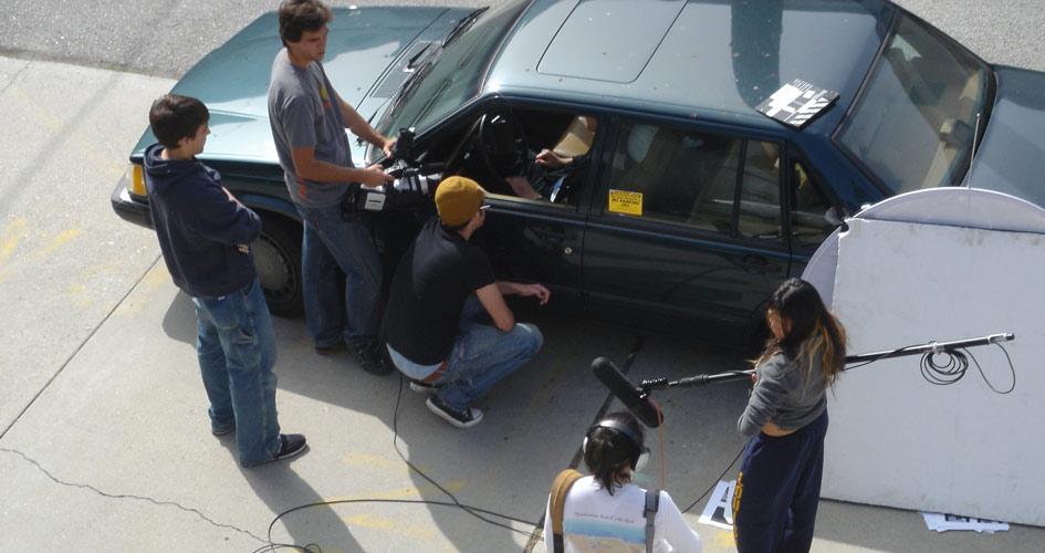 Tim Ryan of @tarproductions on set in film school in 2005