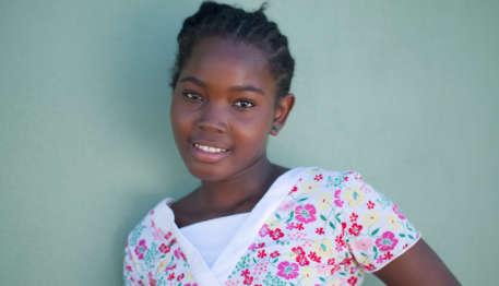 orphaned Haitian girl