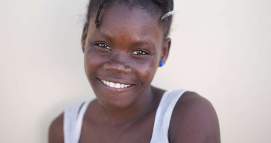 Young Haitian orphaned woman