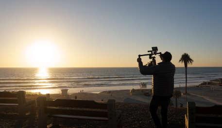 filmmaker sunset dji ronin