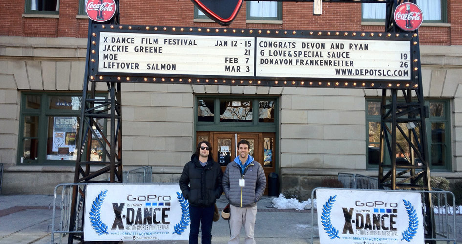 Tim & Adam outside the Depot for X-Dance Film Fest in 2010