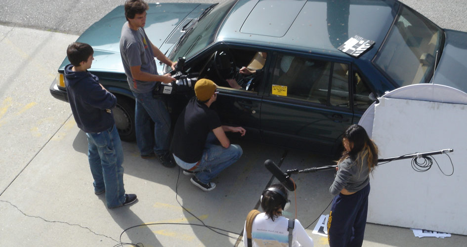 Tim Ryan of @tarproductions on set in film school in 2005