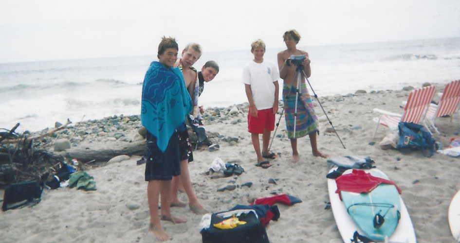Tim Ryan of @tarproductions filming surfing in 1997