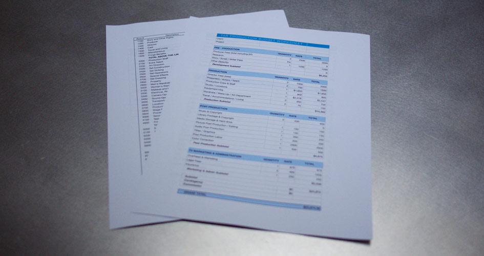 Film & Video budget templates. (free)
