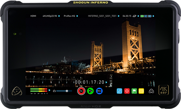 The impressive, 4K, HDR Atomos Shogun Inferno
