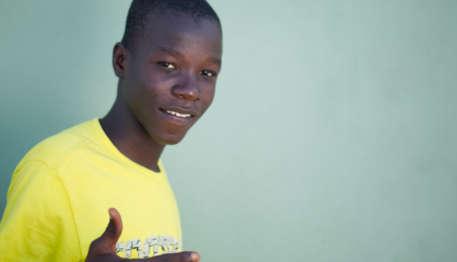 orphaned Haitian boy