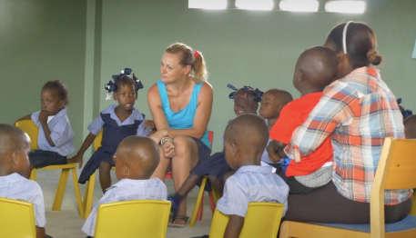 Haitian school classroom