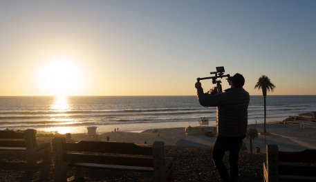 filmmaker sunset dji ronin